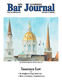 NH Bar Journal - Volume 54, Number 2 - Insurance Law