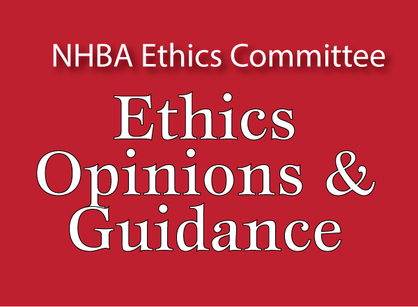 Ethics Opinions & Guidance