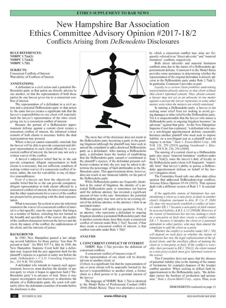 Bar News 12-19-2018 Ethics Supplement