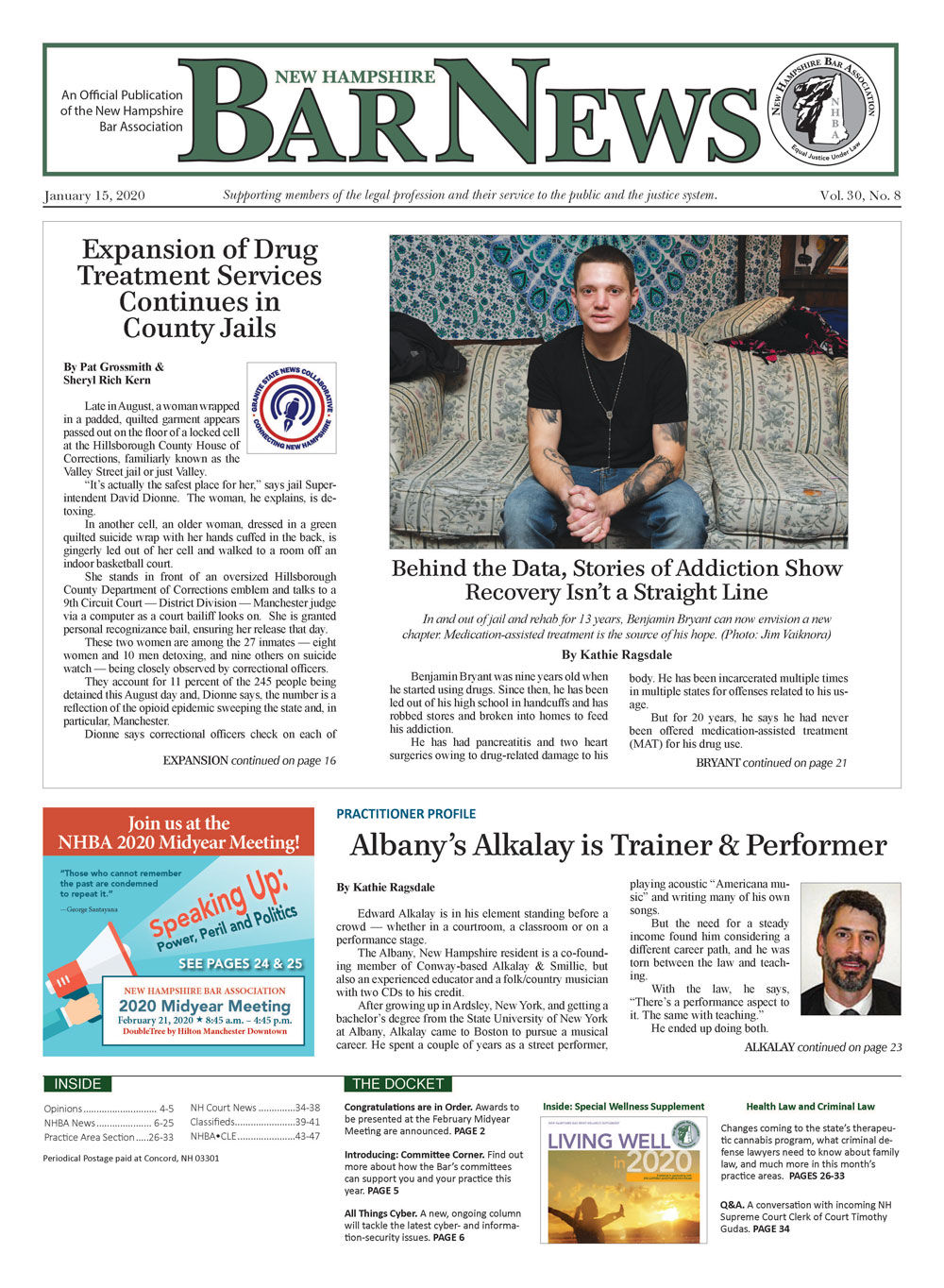 Bar News January 15, 2020 Front Page