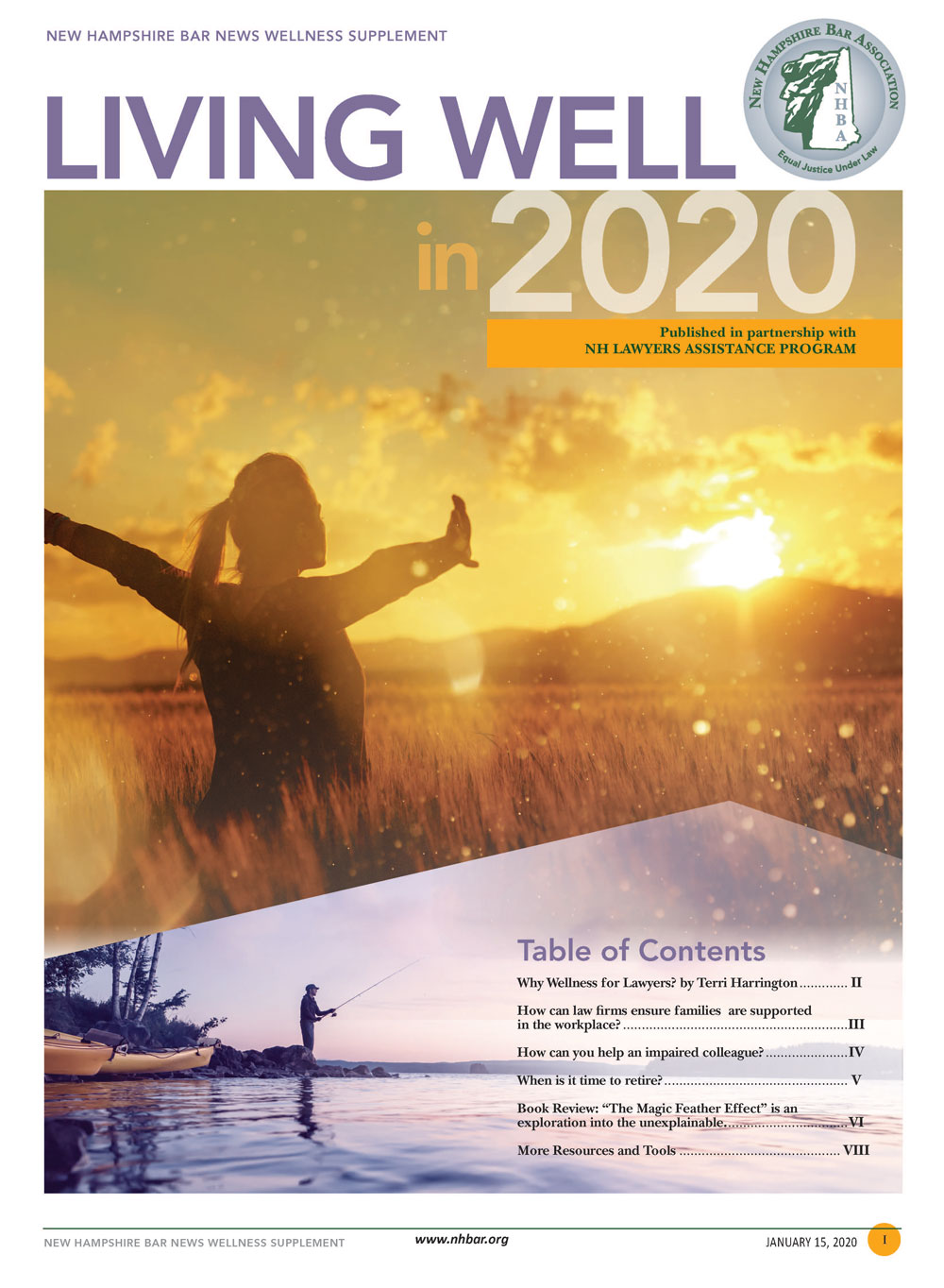 Bar News 202 Living Well Supplement front cover