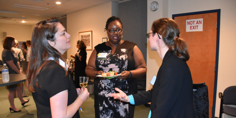 Graduates of Leadership Academy welcome new class at kick-off reception.