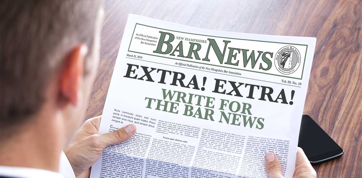 Extra! Extra! Write for the Bar News! Headline