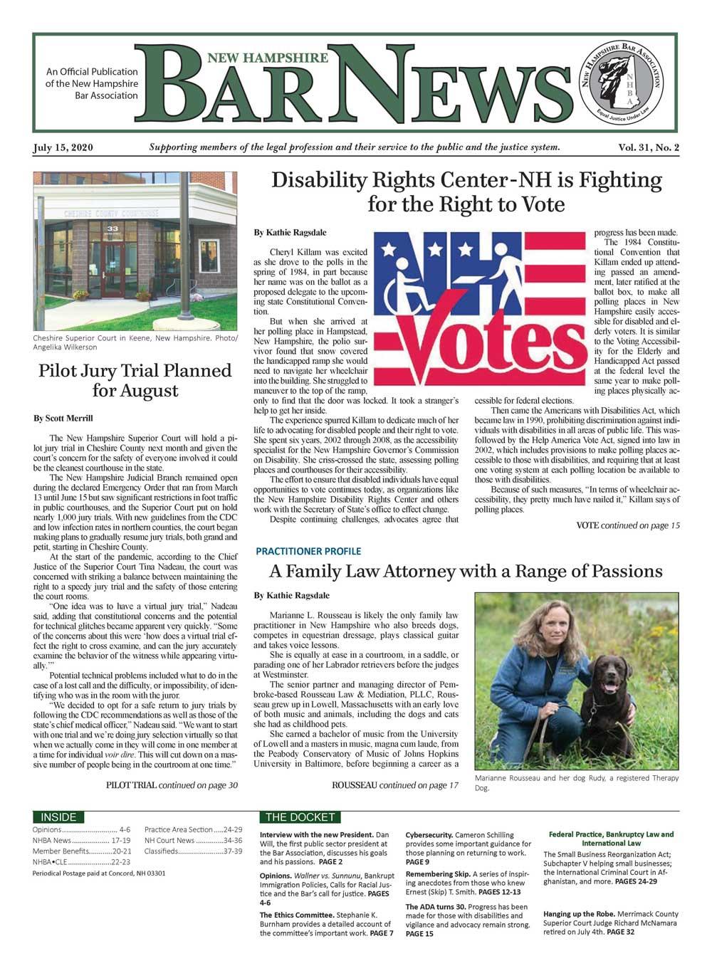 Bar News July 15, 2020