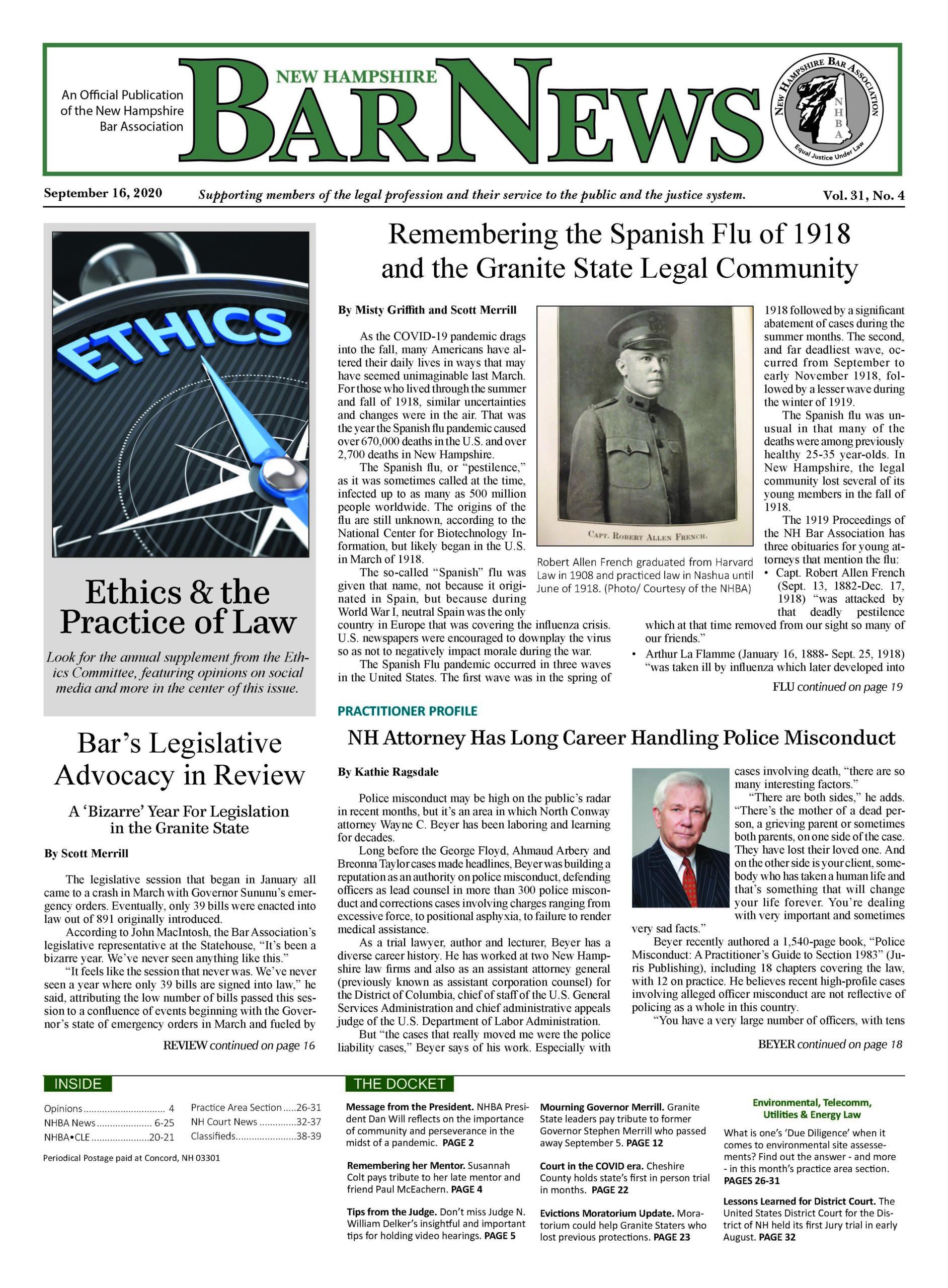 Bar News September 16, 2020