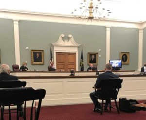 NH Supreme Court during a socially distant hearing