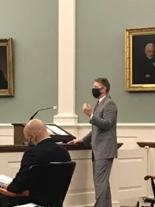 Solicitor General Dan Will making arguments at the NH Supreme Court.