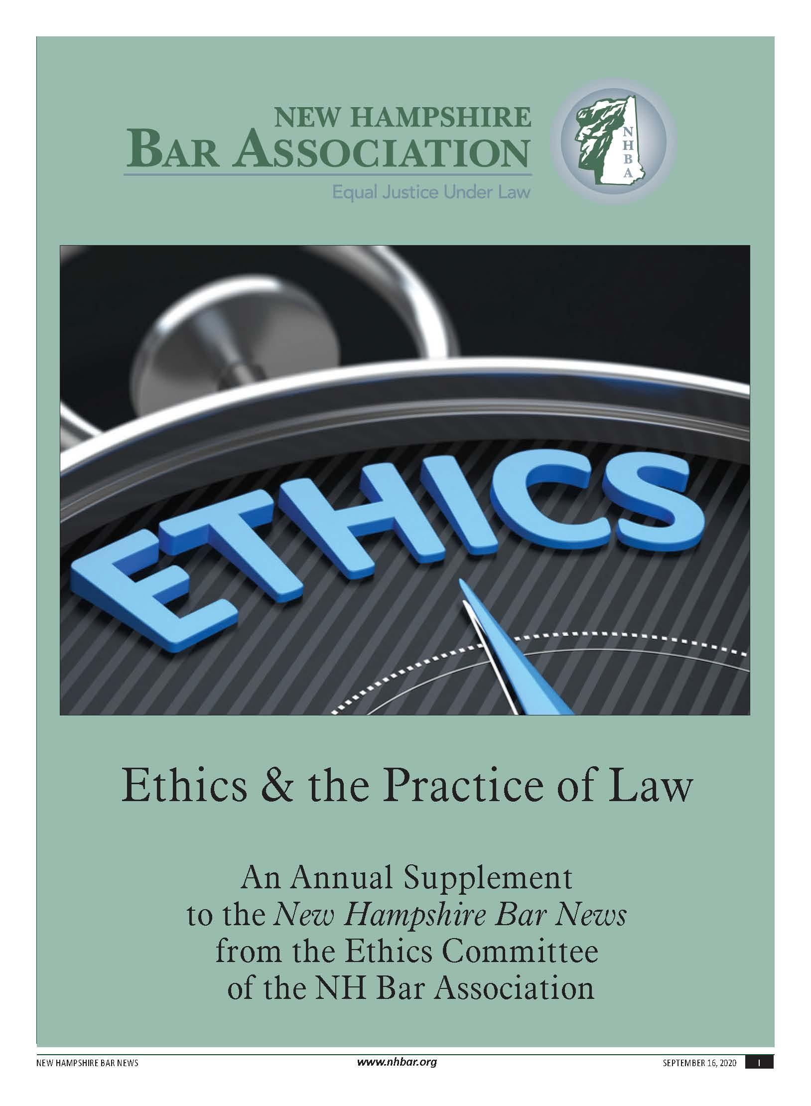 Bar News Ethics Supplement 2020