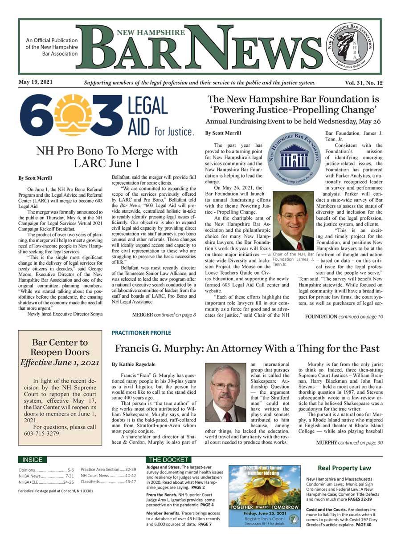 Bar News May 19, 2021